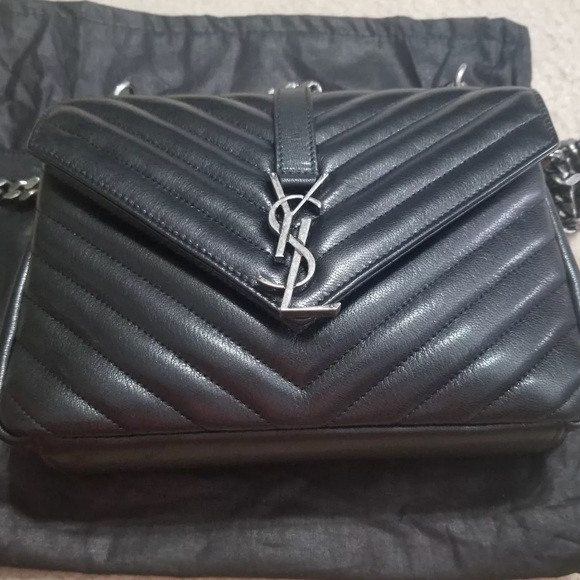 e604e26a9f1a9 YSL Monogram Medium College Bag. M 5a9e20045521be119f1494d2